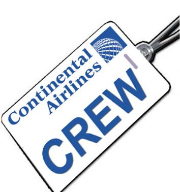 Continental Crew Tag